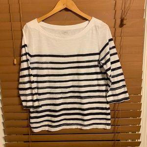 Classic, nautical Ann Taylor LOFT shirt Size L